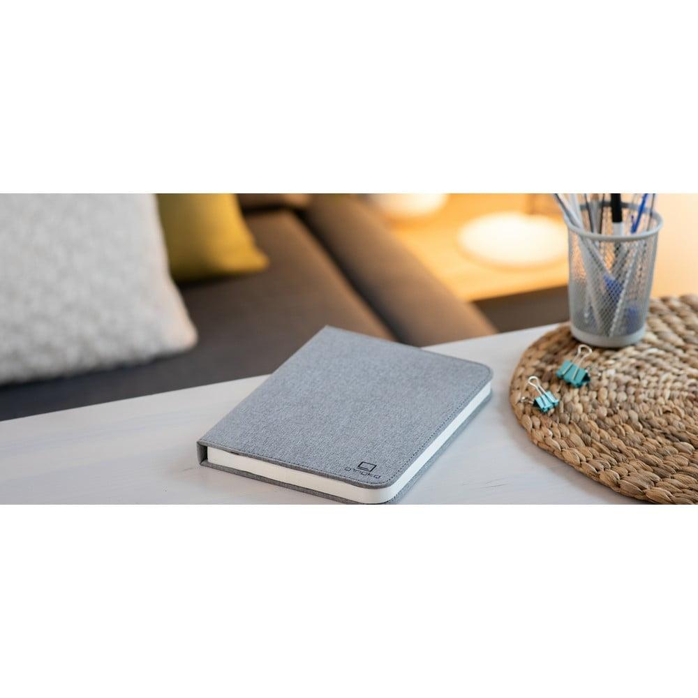 Szara lampa stołowa LED w kształcie książki Gingko Booklight