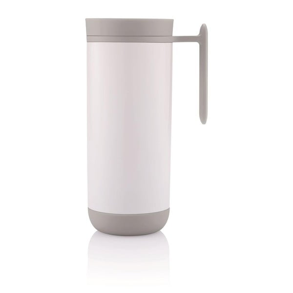 Biały kubek termiczny z uchem XD Design Clik