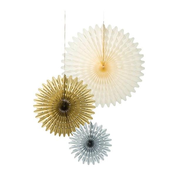 Zestaw 3 papierowych dekoracji Talking Tables Giant Paper Fans Approx