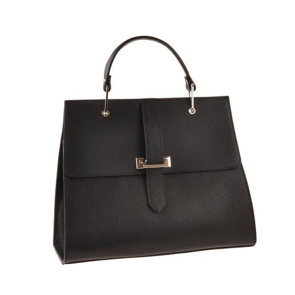 Skórzana torebka Pau, czarna