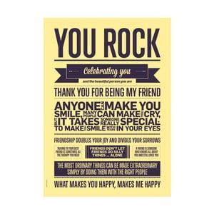 Plakat autorski You Rock, A3