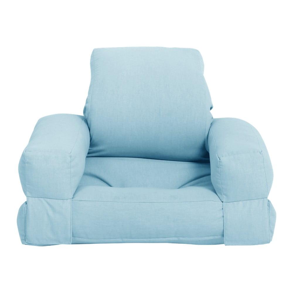 Jasnoniebieski dziecięcy fotel rozkładany Karup Design Mini Hippo Light Blue