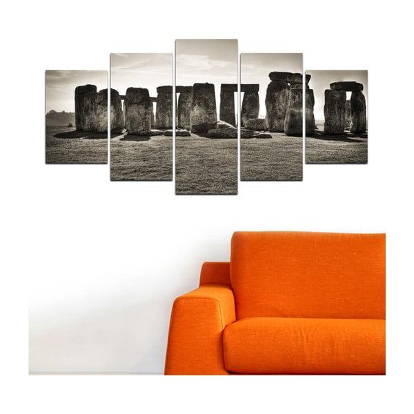 Wieloczęściowy obraz Black&White no. 13, 100x50 cm