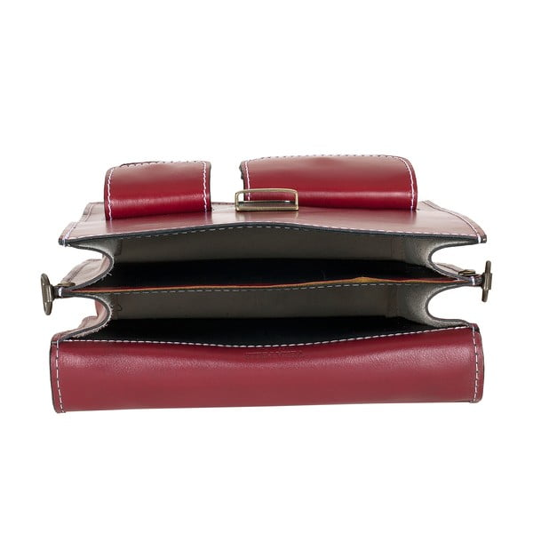 Skórzana torebka Ore Diece Urbino, czerwona