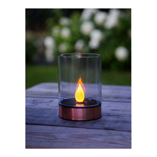 Lampa ogrodowa Solar Energy Garden Light Candle Rose