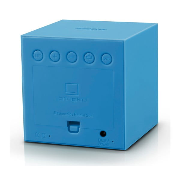 Niebieski budzik LED Gingko Gravitry Cube