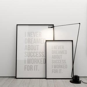 Plakat I never dreamed about success, 50x70 cm