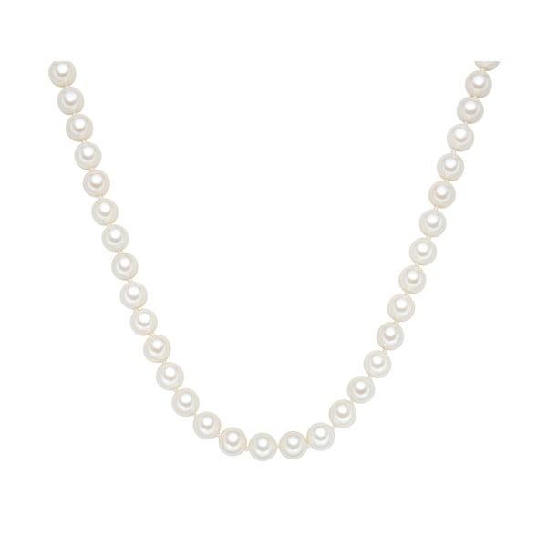 Perłowy naszyjnik Muschel, białe perły 10 mm, długość 45 cm