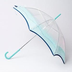 Parasol Alvarez Vichy Transparent Blue Aqua