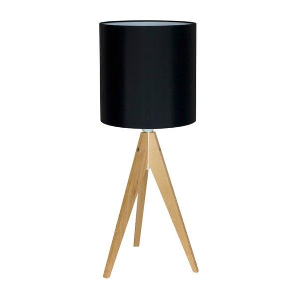 Czarna lampa stołowa 4room Artist, brzoza, Ø 25 cm