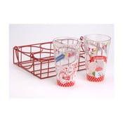 Zestaw szklanek w koszyku Route des Vacances