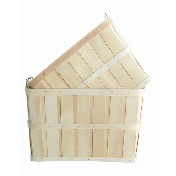 Zestaw 2 drewnianych koszyków House Doctor Storage