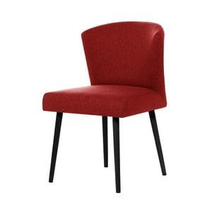 Czerwone krzesło z czarnymi nogami My Pop Design Richter