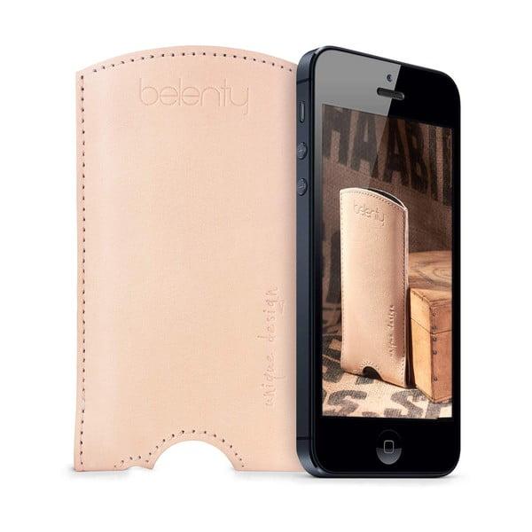 Skórzane etui na iPhone 5/5s Cream