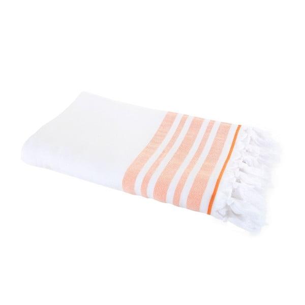 Łososiowy ręcznik Hammam Leodikia, 150x100 cm