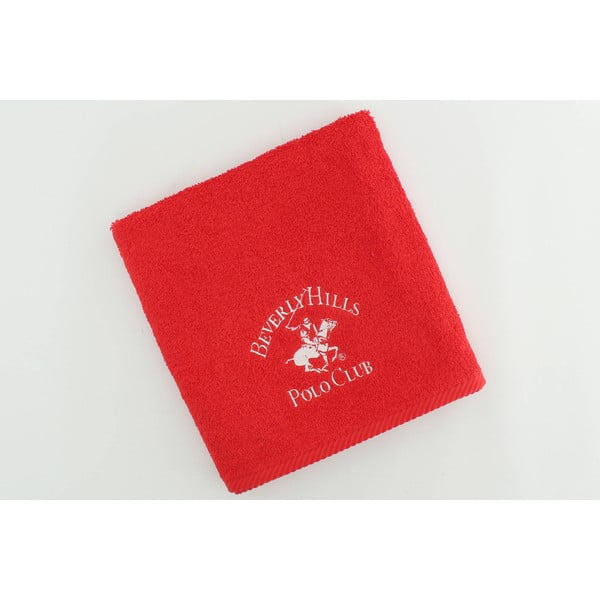 Ręcznik Polo Club Red, 50x100 cm