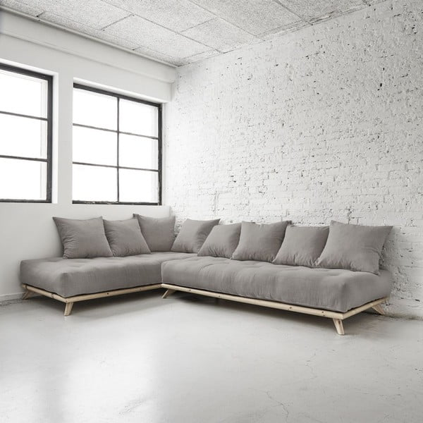 Sofa Senza Natural/Granite Grey