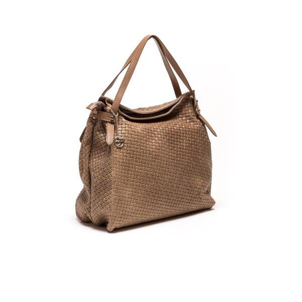 Skórzana torebka Carla Ferreri 861 Fango