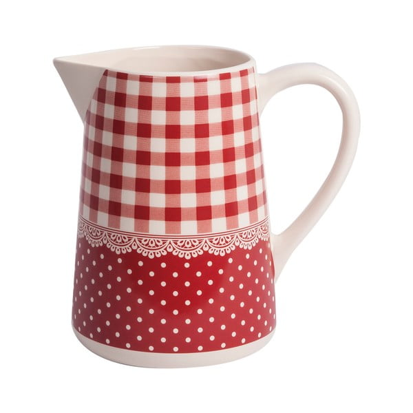 Dzbanek Red Dots&Checks, 19 cm