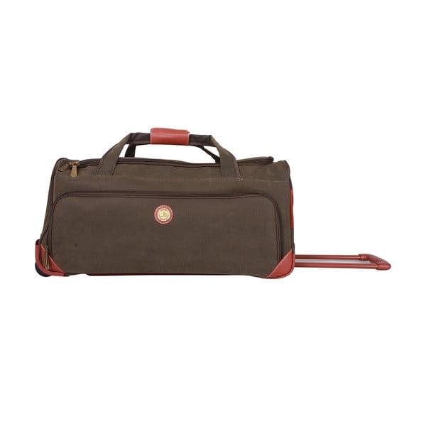 Podróżna torba na kółkach Jean Louis Scherrer Khaki, 60 l