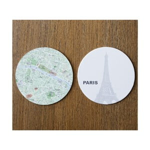 Komplet 10 podstawek Design Ideas MapCoasters Paris