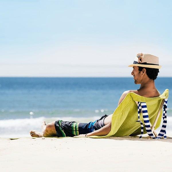 Leżak i ręcznik plażowy w jednym Sun Seat Olive