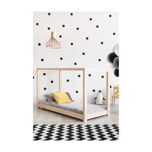 Łóżko w kształcie domku z drewna sosnowego Adeko Mila KM, 160x190 cm