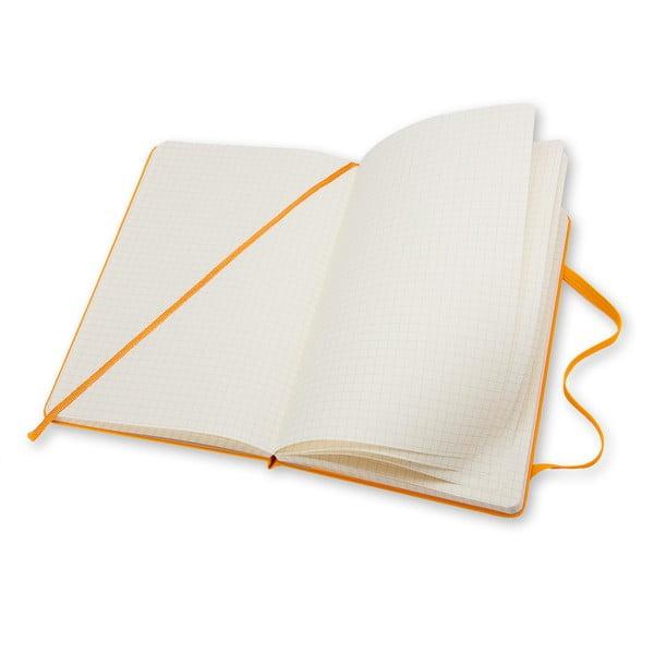 Notatnik Moleskine Hard 21x13 cm, żółty + strony w kratkę