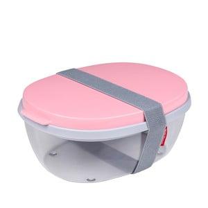 Pojemnik na sałatkę z różowym wieczkiem Rosti Mepal Ellipse
