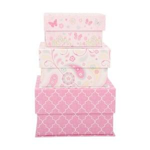 Zestaw 3 pudełek Pink Dream