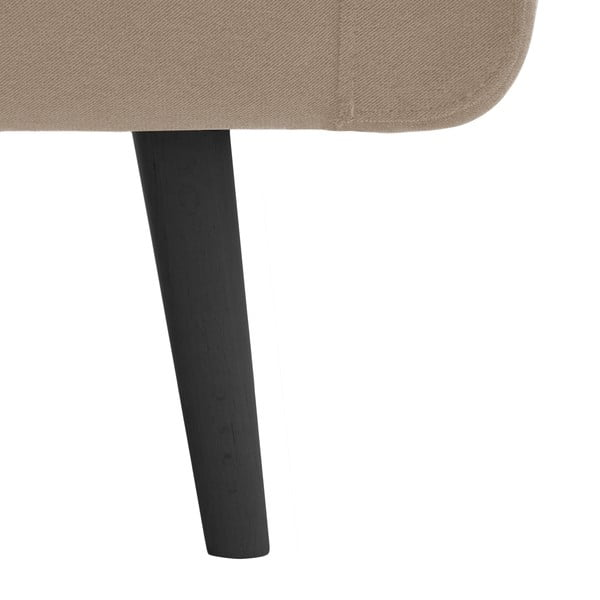 Beżowa sofa dwuosobowa z czarnymi nogami Vivonita Sondero