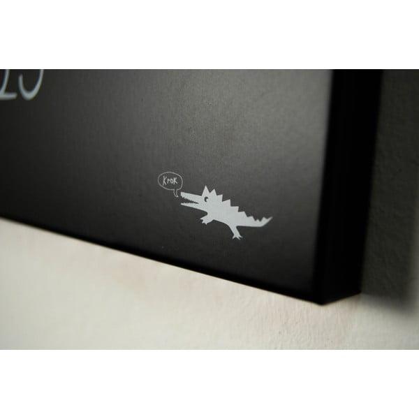 Magnetyczny kalendarz dESIGNoBJECT.it Krok Black,50x50cm
