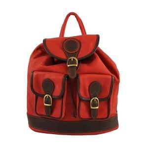 Czerwony plecak skórzany Chicca Borse Becky