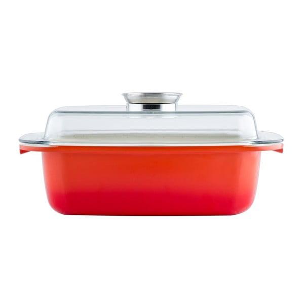 Naczynie do zapiekania z pokrywką Toscana, czerwone, 32 cm