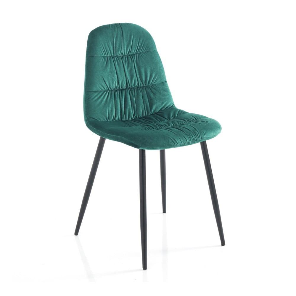Zestaw 4 zielonych krzeseł do jadalni Tomasucci Fluffy