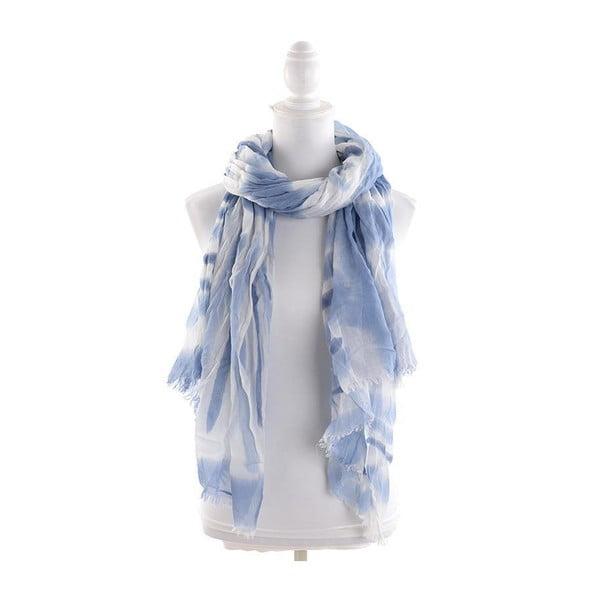 Chusta/pareo BLE Inart 100x200 cm, niebiesko-biała