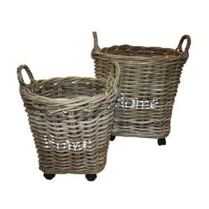 Zestaw 2 koszy z koboo rattanu HSM Collection Home