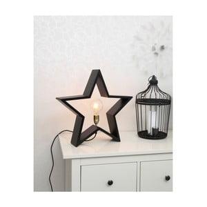Czarna drewniana gwiazda świecąca Best Season Lysekil