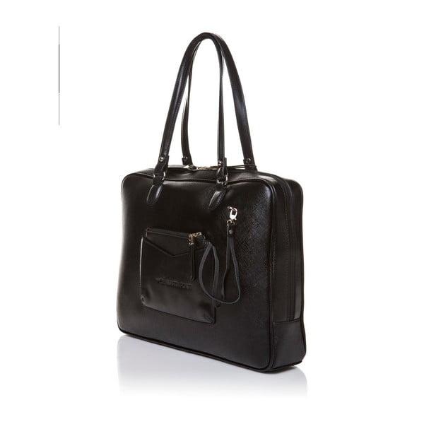Skórzana torebka przez ramię Marta Ponti Aipee, czarna