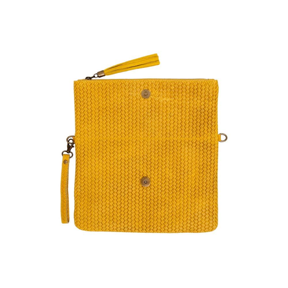 ab7b1796e3f3f ... Żółta kopertówka skórzana Andrea Cardone Ricca ...