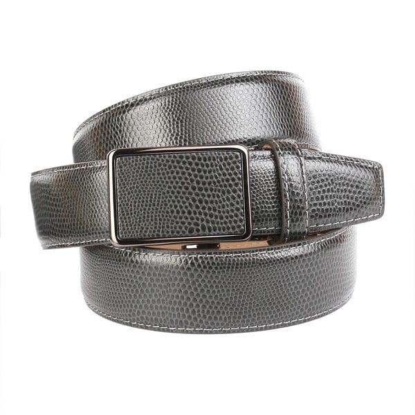 Pasek skórzany męski 37V70S Grey, 110 cm
