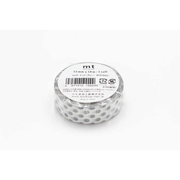 Taśma dekoracyjna washi Dot Dot Grey