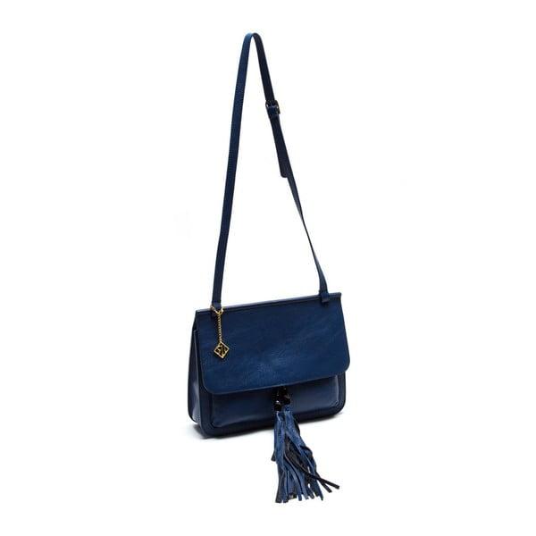 Skórzana torebka Isabella Rhea 1154 Blu