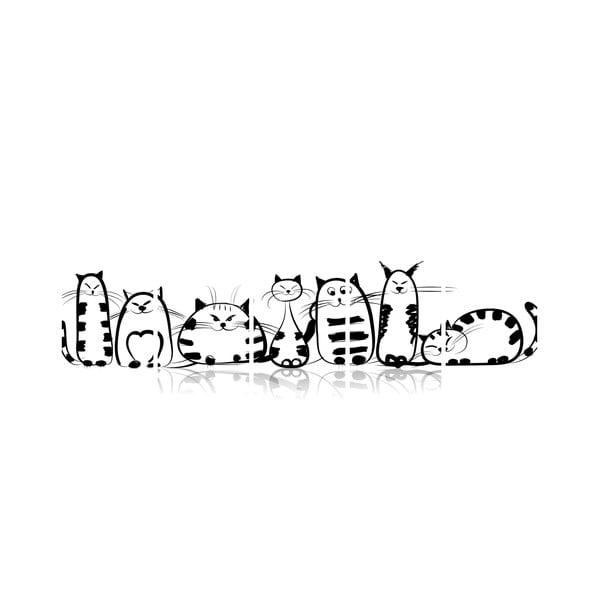 Wieloczęściowy obraz Black&White no. 21, 100x50 cm