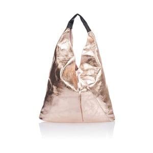 Różowa torebka skórzana Giulia Massari Trio