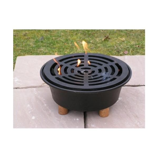 Ogrodowa kuchenka żeliwna z kratką