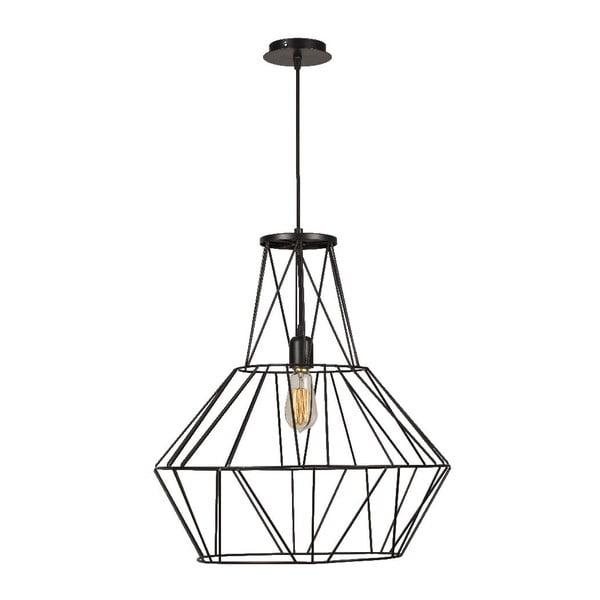 Czarna lampa wisząca Cage Diamond