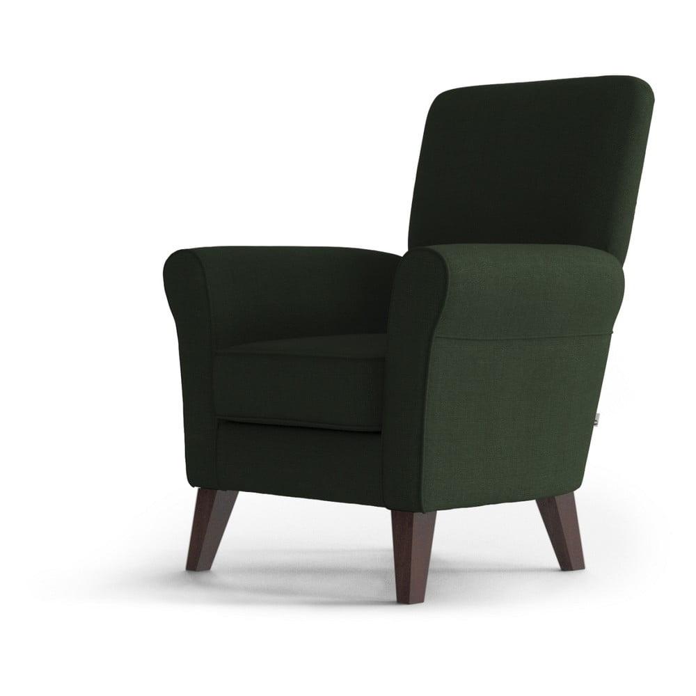 Ciemnozielony fotel My Pop Design Balard