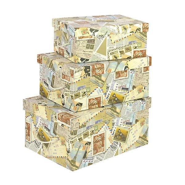 Komplet 3 pudełek Stamps