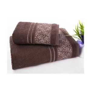 Zestaw 2 ręczników Saray Brown, 50x90 cm i 70x140 cm